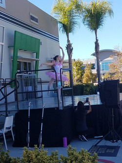 Advanced Inspire School of Ballet dancer performing her solo during ISB's Fall Showcase at the studi