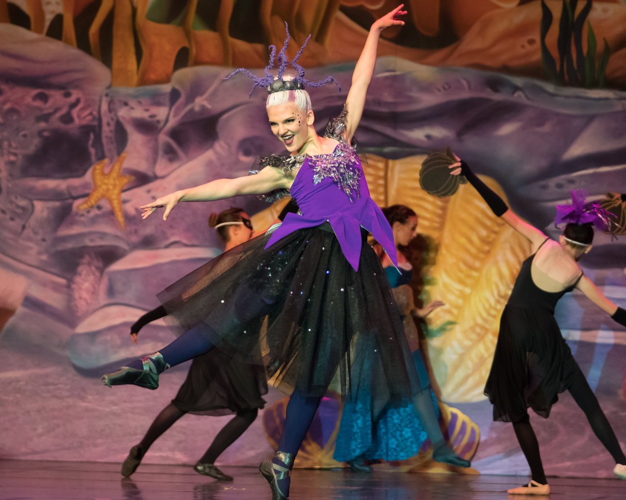 "Advanced ISB ballet dancer performing as Ursula during ISB's ""The Little Mermaid"" show."