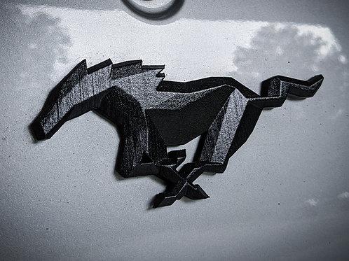 Geometric Mustang Badge