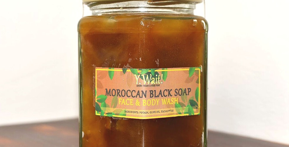 Moroccan Black Soap Face and Body Wash