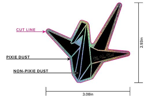 3x3 Origami Crane/Tila Von Twirl Hint of Glitter Sticker PRE ORDER