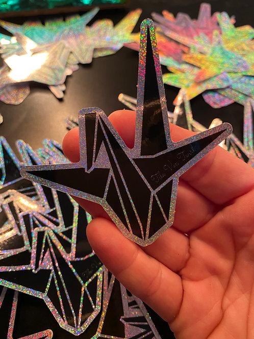 3x3 Origami Crane/Tila Von Twirl Hint of Glitter Sticker