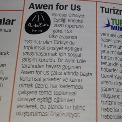 Awen for Us Para Dergisi'nde!