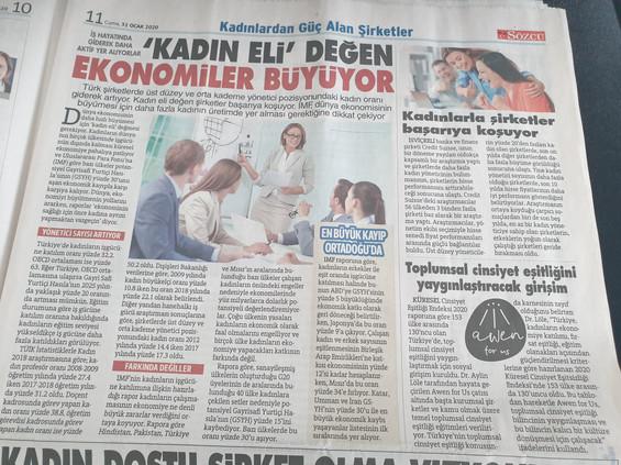 Awen for Us Sözcü'de!