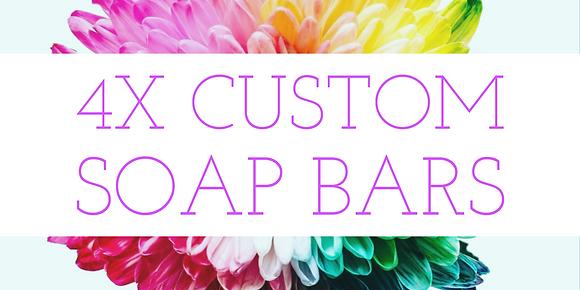4X Custom Soap Bar