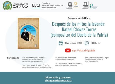 """Presentación del libro: """"Después de los mitos la leyenda: Rafael Chávez Torres ( compositor del"""