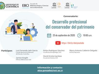 """Conversatorio: """"Desarrollo profesional del conservador del patrimonio"""""""