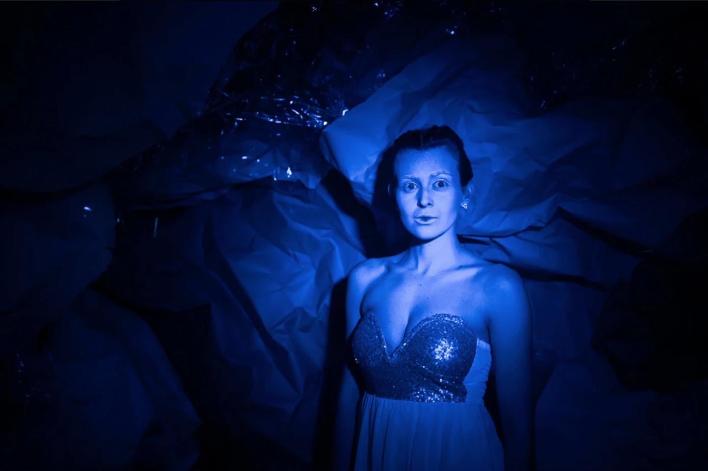 Portrait of female blue fairy