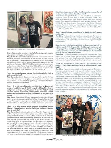 fleur blume Artiste New York stuart magazine