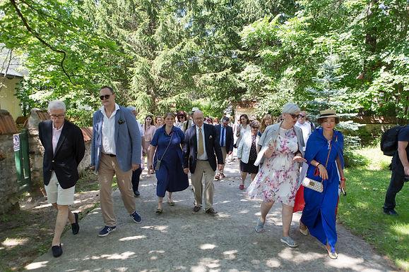 Pique-nique françaisau musée de Polenovo dans l'oblast de Toula 12 juillet2020