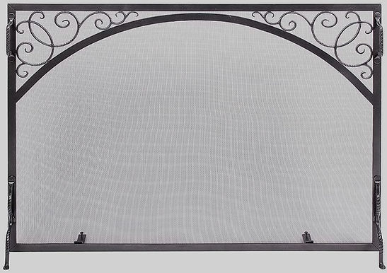 "44""x 33""  Graphite Fireplace Screen"
