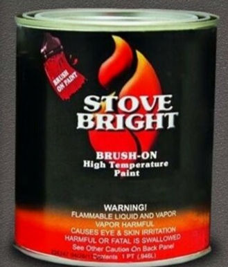 Stove Bright Brush On  High Temperature Paint