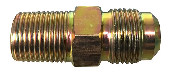 "1/2"" x 3/8"" Steel Gas Flare Male Fitting"
