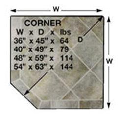 "54"" x 63""  Corner Hearth Pad"