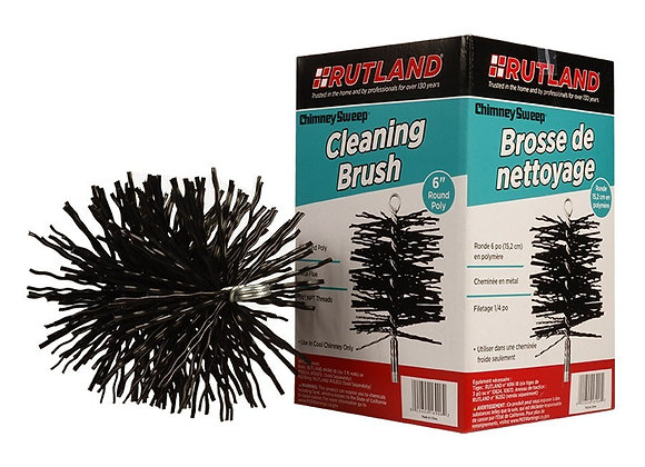 Rutland 6″ and 8″  Round Poly Chimney Cleaning Brush