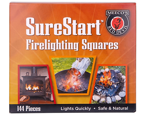 Meeco's Sure Start Firelighting Squares (144 ct)