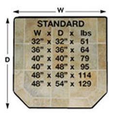 """32"""" x 32"""" Standard Hearth Pad"""