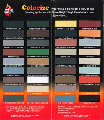 Stove Bright High Temperature Paint-Colors