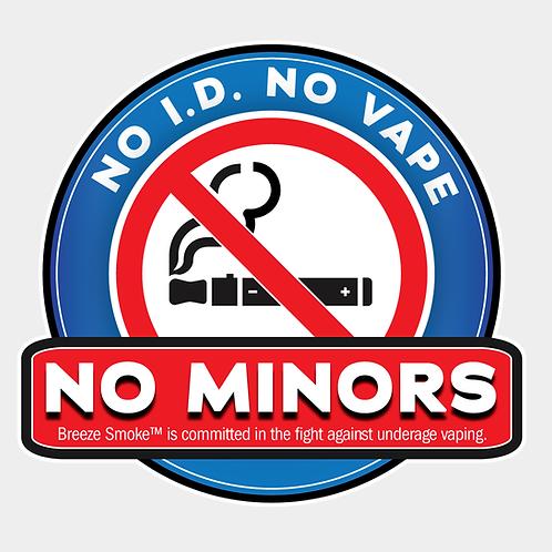 No Minors Sticker