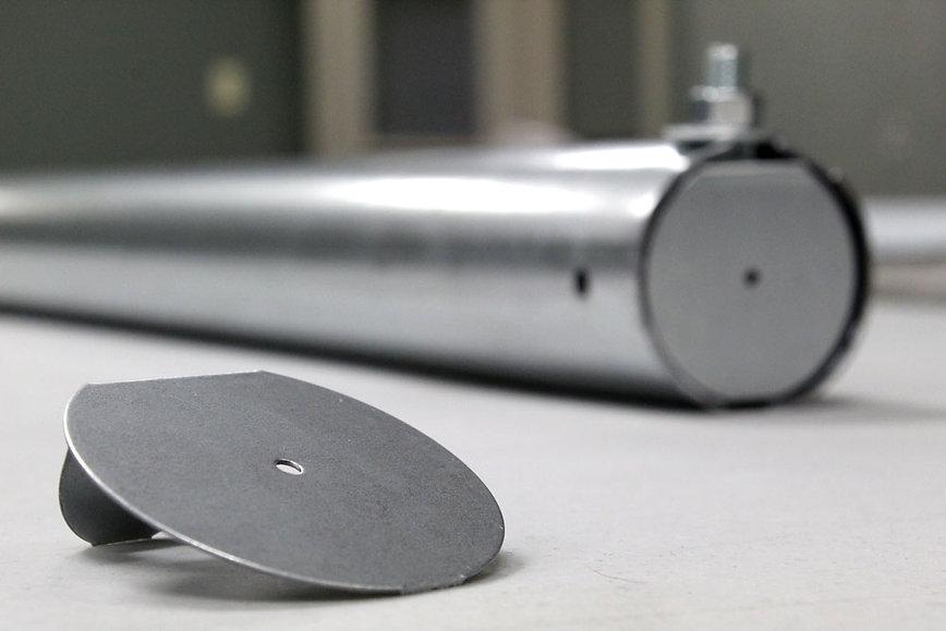 round track end cap