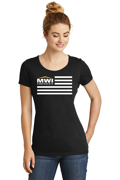 LNEA130 MWI FLAG Graphic: Womens' T-Shirt (New Era Brand) Swag