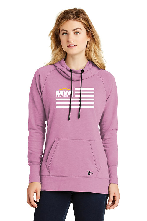 LNEA510 MWI FLAG Graphic: Womens' Hooded Sweatshirt (New Era Brand)