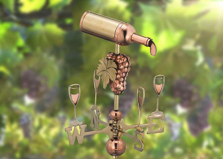 Wine copper weathervane