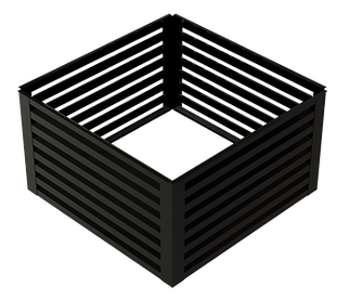 Square cupola sides with louvers
