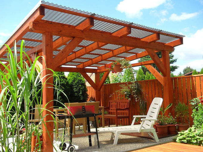 Gazebo with Polycarbonate Skylight