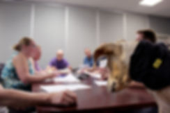 Blurred Team Meeting Background