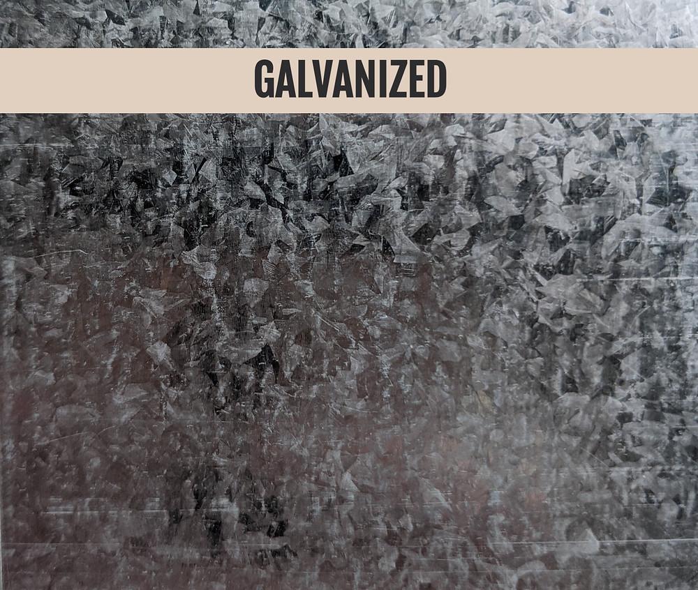 galvanized steel, galvanized substrate