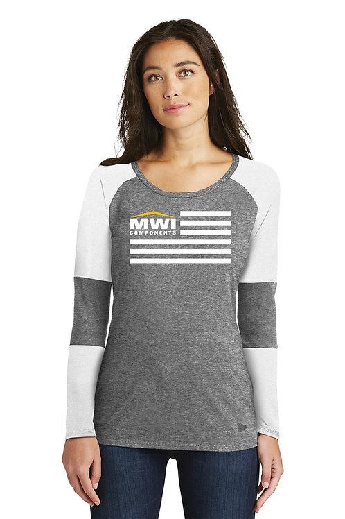 LNEA132 MWI FLAG Graphic: Womens' Long Sleeve T-Shirt