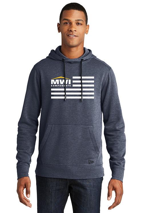 NEA510 MWI FLAG Graphic: Mens' Hooded Sweatshirt (New Era Brand)
