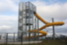Slide with Polycarbonate Skylight