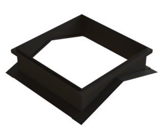 Square cupola 10-piece flashing kit