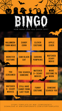 Halloween 2020 - Bingo