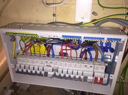 Upgraded and fully compliant consumer unit.