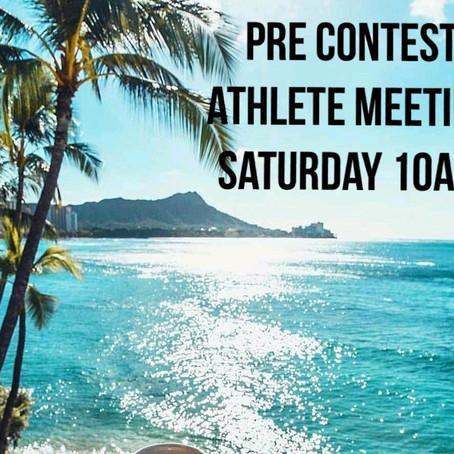 NPC Athlete Meeting 10am Nov 23rd!