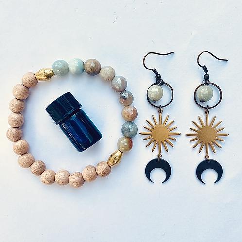 Throat Chakra Jewelry Set