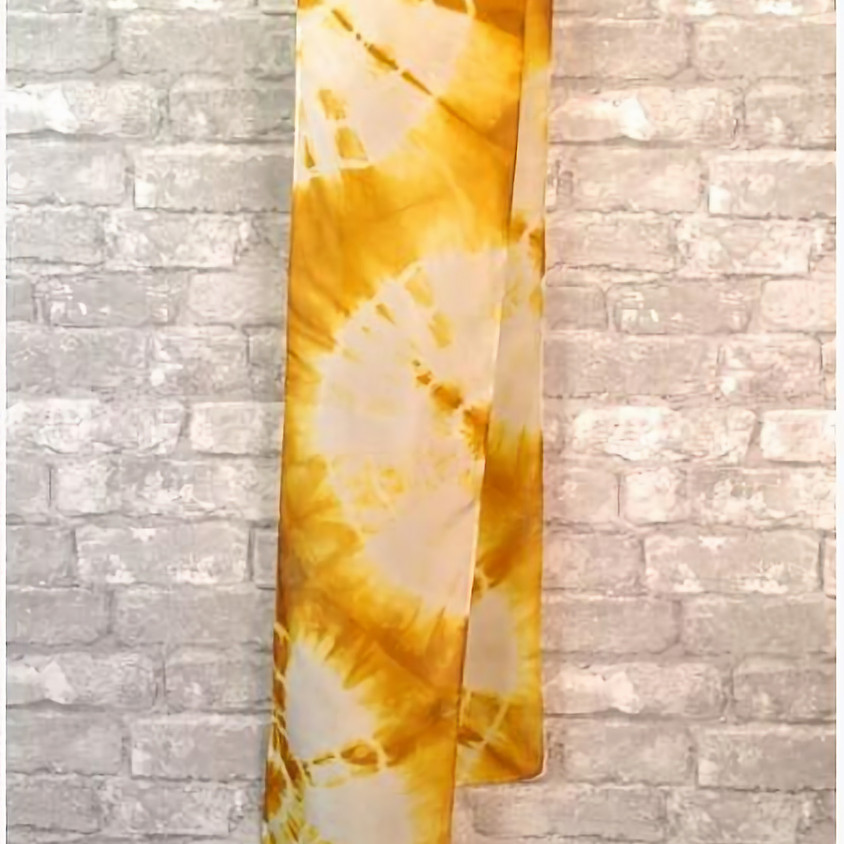 Winter Solstice: Hand Dyed Turmeric Tapestry/Shawl