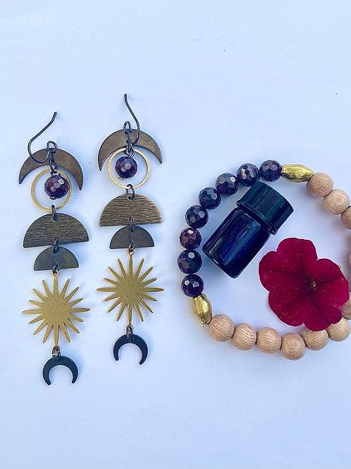 Root Chakra Jewelry Set