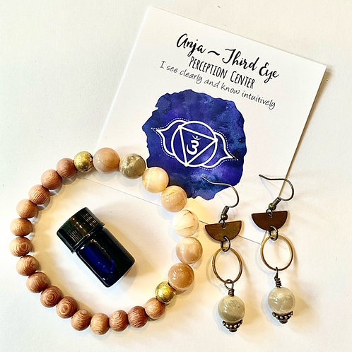 Third Eye Chakra Jewelry Set