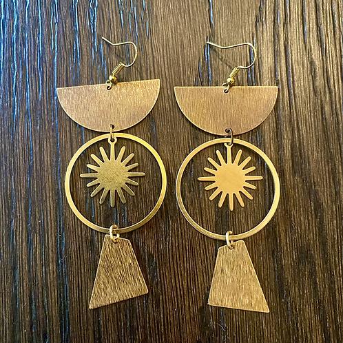 Sekhmet Sun Goddess Earrings