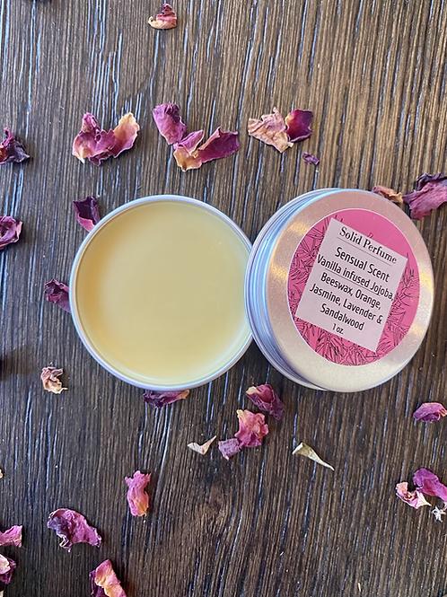 Sandalwood, Jasmine, Lavender, & Rose Solid Perfume