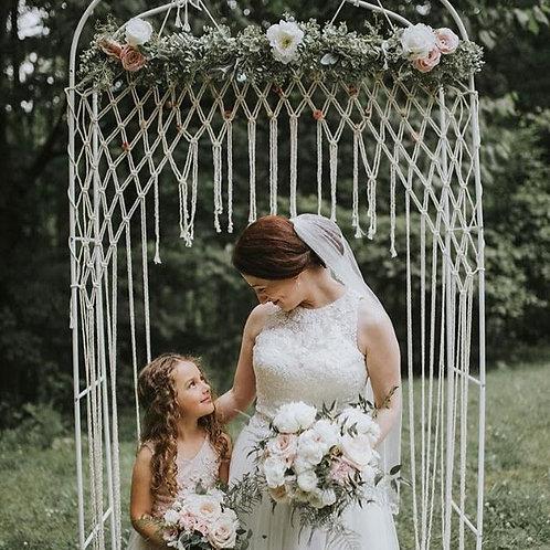 Small Macrame Wedding Backdrop