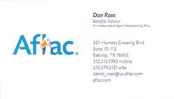 Dan Rose Aflac Card