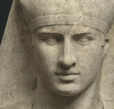 A Roman Marble Bust of Antinous Osiris