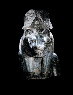 An Egyptian inscribed Grandiorite Bust of Sekhmet