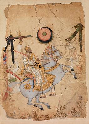 Portrait of Ikhlas Khan%2c Golconda%2c c