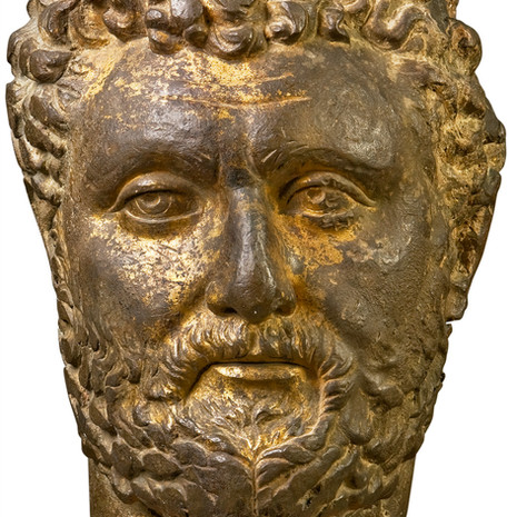 A Colossal Roman Guilded Bronze Head of an Emperor
